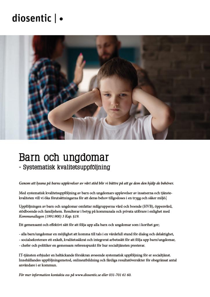 Informationsblad Barn och ungdomar systematisk kvalitetsuppföljning
