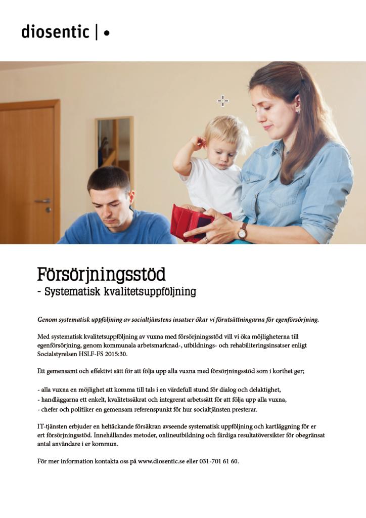 Informationsblad Försörjningsstöd systematisk kvalitetsuppföljning