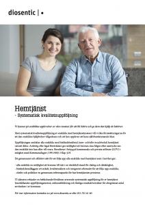 Informationsblad Hemtjänst systematisk kvalitetsuppföljning