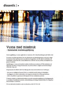 Informationsblad Vuxna med missbruk systematisk kvalitetsuppföljning