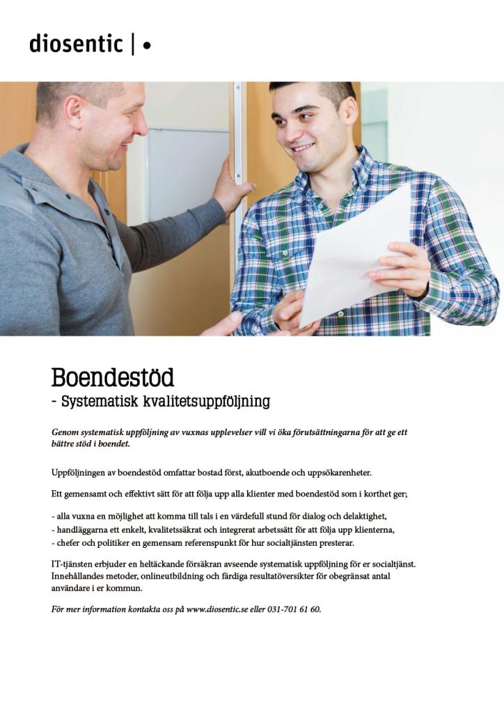 Informationsblad Boendestöd systematisk kvalitetsuppföljning