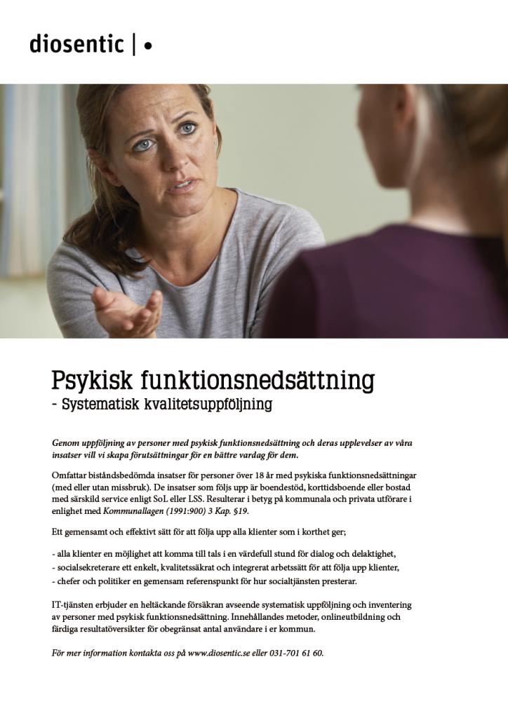 Informationsblad Funktionsnedsättning systematisk kvalitetsuppföljning
