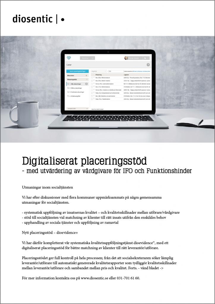 Digitaliserat placeringsstöd med utvärdering av vårdgivare för IFO och Funktionshinder